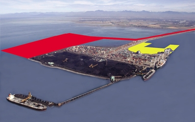 A representation of Port Metro's Planned second terminal at Deltaport