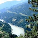 The Fraser Canyon, which powerful interests fought for decades to dam