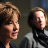 Premiers Christy Clark and Alison Redford (Larry MacDougal/CP photo)