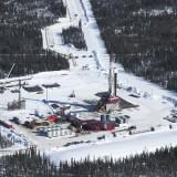 A fracking rig in northeast BC's Horn River Basin (Damien Gillis photo)