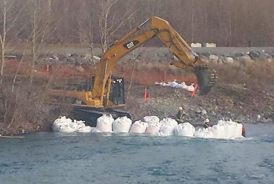 construction-cayoose creek