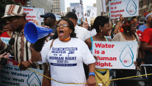 Detroit turns taps back on after outrage over private water control