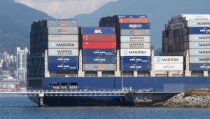 Large container ship strikes Vancouver dock- Attila