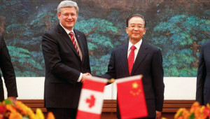 Harper signing off on FIPA trade deal before trip to China