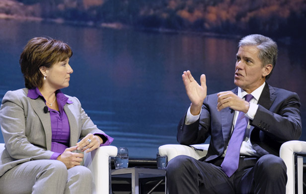 Christy Clark and Marvin Odum, President Shell Oil Company at recent BC LNG conference