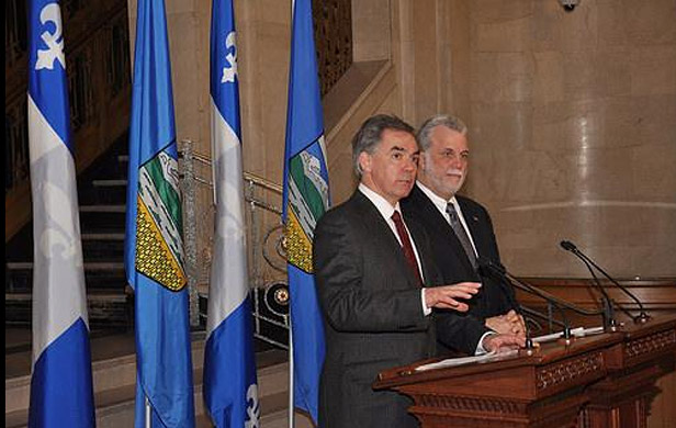 Jim Prentice meeting with Quebec Premier Philippe Couillard