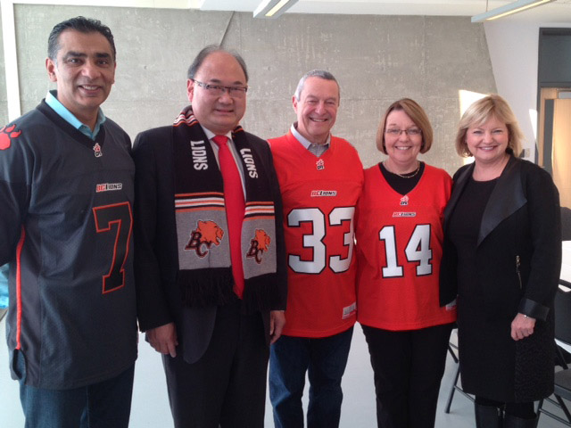 "Liberal MLAs attend BC Lions-endorsed ""Skills for Life"" session (Photo: MLA John Yap)"