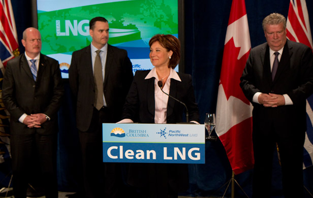 Premier Christy Clark announcing...the same thing she's announced many times before (BC Govt)