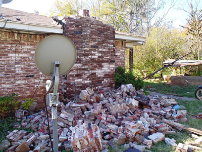 Damage from Oklahoma's 2011 fracking-related earthquake (Brian Sherrod, United States Geological Survey)
