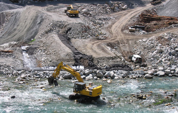 Construction of a private power project on the Ashlu River (Photo: Range Life)