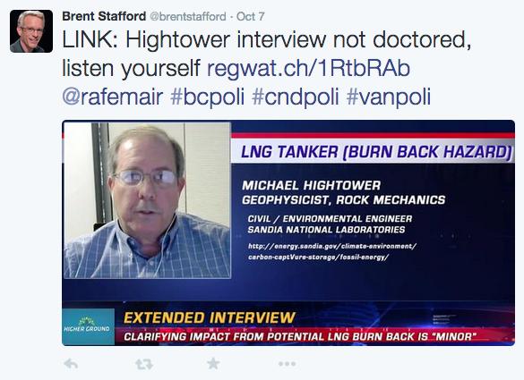 Screen capture of @BrentStafford tweet defending his interview practices