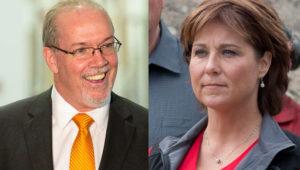 BCNDP Leader John Horgan (Flickr/BCNDP) and Premier Christy Clark (Flickr/Province of BC)