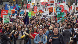 Recent Vancouver rally against Kinder Morgan (Photo: David Suzuki Foundation/Facebook)
