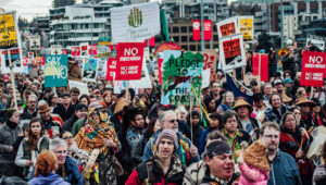Recent Kinder Morgan protest in Vancouver (Photo: Lu Iz/Facebook)