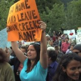 1,100 protesters showed up in Kaslo, BC - a town of 1,000 - to say no to a proposed private river power project - June 2009