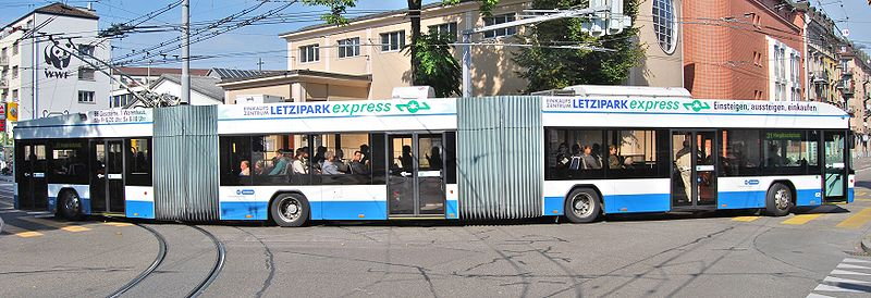 Larger and faster buses reduce the cost per passenger. Photo by Micha L. Rieser
