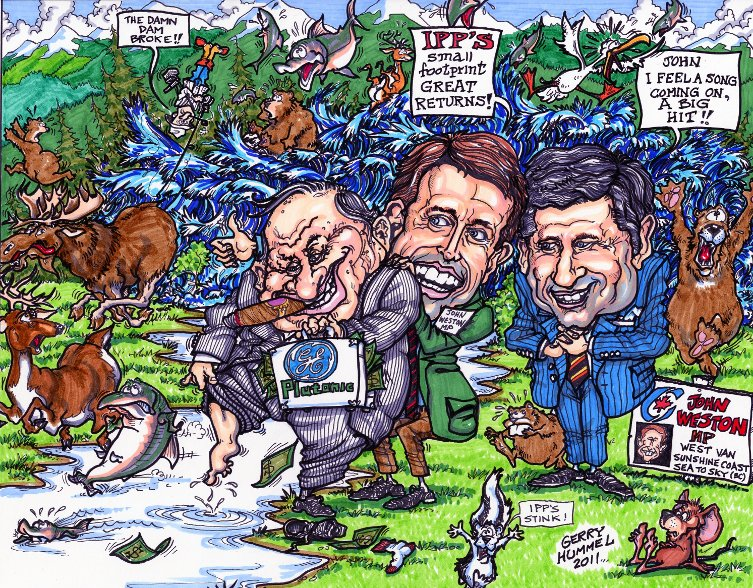 Gerry Hummel's cartoon on John Weston support of private river power projects