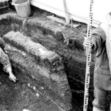Archeology work being conducted at the ancient Glenrose Canary site in Delta in the ealry 1980s (Delta Museum and Archives)