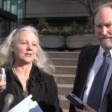 Alexandra Morton and her lawyer Greg McDade in 2009