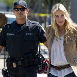 Actress/activist Daryl Hannah being arrested at a recent protest in Washington, DC, to stop the proposed Keystone XL Pipeline from the Tar Sands to Texas