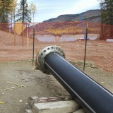 Talisman's water pipe from the Williston Reservoir - under construction this past October