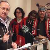 Chief Art Sterritt of the Coastal First Nations sets the record straight at a recent press conference