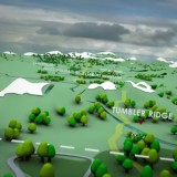 A freeze frame from Enbridge's pipeline route animation