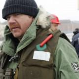Norwegian anti-fish farm activist Kurt Oddekalv at one of his provocative campaign stunts