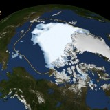 Arctic sea Ice shrinks to new low in satellite era - NASA image