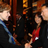 Premier Clark promoting BC seafood exports to China during a trade visit in November 2011 (photo: BC Government flickr page)