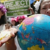 Protestors outside the Rio Climate Conference earlier this year. Photograph by: Aaron Favila, AP