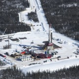 A fracking rig in northeast BC's Horn River Basin (Damien Gillis photo)