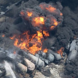 Pipeline, rail, climate change disasters all due to oil addiction