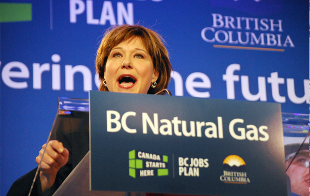 Premier Christy Clark defends LNG industry's carbon footprint