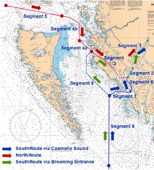 Enbridge tanker routes