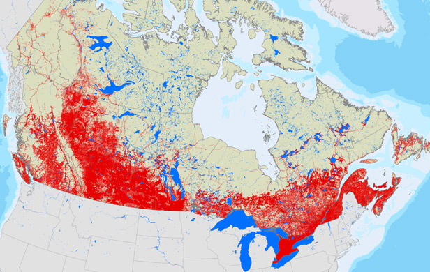 New study shows Canadian industrialization in graphic detail