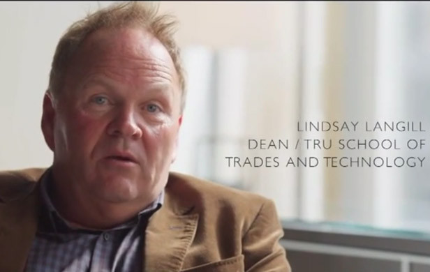 Lindsay Langill, dean of trades and technology at Thompson Rivers University (Photo: Ajax Project Youtube).