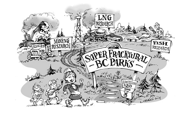 Pipelines in parks - Welcome to Super, Fracktural BC!