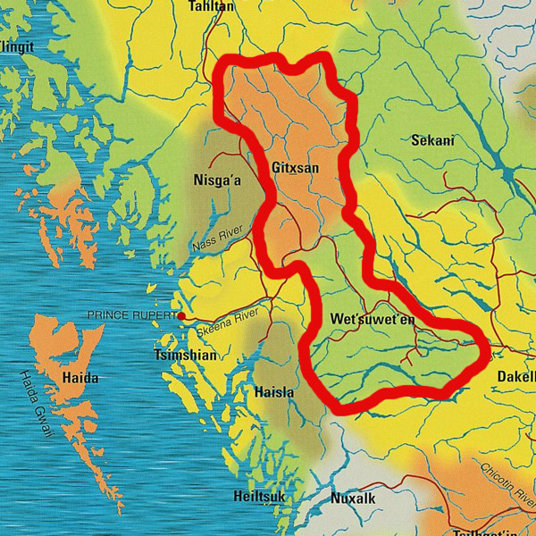 Gitxsan-Wet'suwet'en map