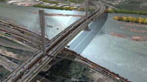 Artist's drawing of new Port Mann Bridge