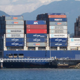 Large container ship strikes Vancouver dock- Attila