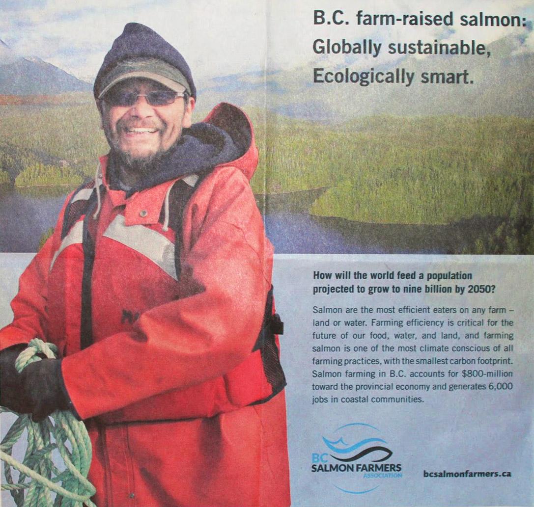 BC Salmon Farm ad