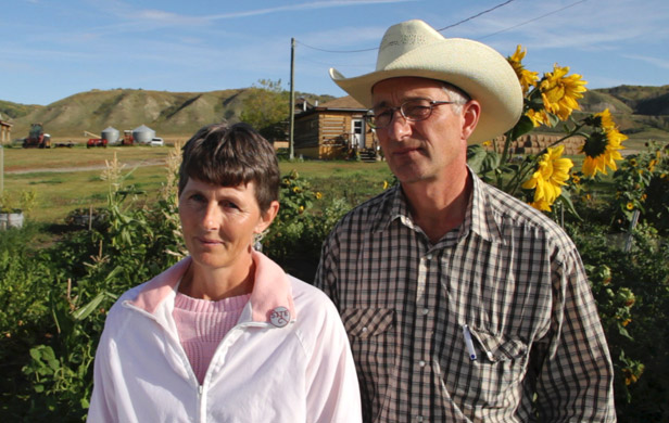 Peace Valley ranchers Ken and Arlene Boon are plaintiffs in several Site C Dam challenges (Damien Gillis)