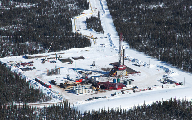 An Encana drill rig in northeast BC's Horn River shale gas play