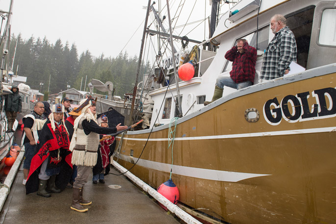Falling on deaf ears: Heiltsuk leaders plead their case to gillnet fishermen - to no avail (Tavish Campbell)