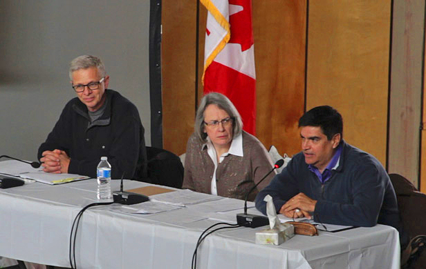 The 3-member NEB Joint Review Panel for the proposed Enbridge Northern Gateway pipeline (Damien Gillis)