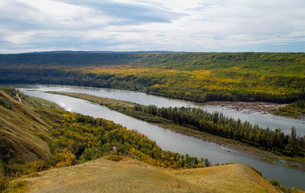 Location of proposed Site C Dam - slated for imminent clearcutting (photo: Damien Gillis)