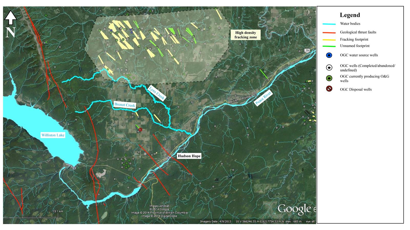 Fracking Map_Lynx, Brenot Creeks