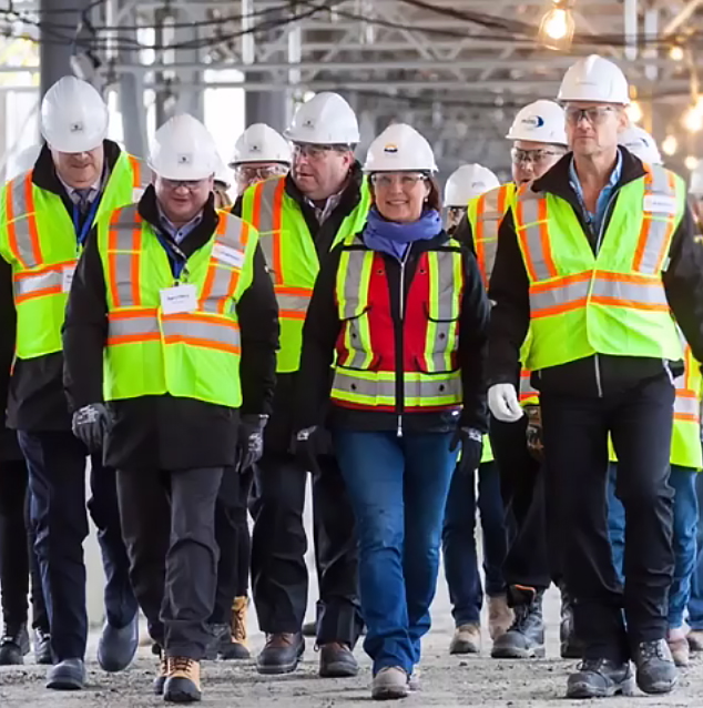 Premier Christy Clark and TFN Chief Bryce Williams get a tour of FortisBC's nearby Tillbury LNG facility upgrade (Instagram - FortisBC)