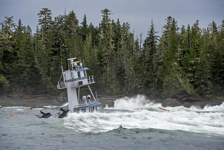 The sunken Nathan E. Stewart tug (Photo: Tavish Campbell)